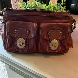 Coach whisky leather purse